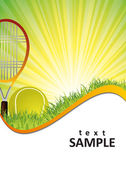 Tennis poster — Stock Vector