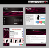 Business web site design template — Stock Vector
