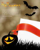 Halloween holiday party poster — Stockvektor