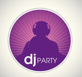 Dj party poster — Stock Vector