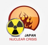 Japanese nuclear crisis — Stock Vector