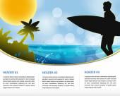 Zomer tropic vakantie poster — Stockvector