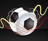Футбольный плакат — Cтоковый вектор