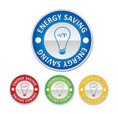 Energy saving sign — Stock Vector