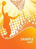 Basketball poster — Stock Vector