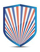 American shield — Stock Vector