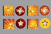 明星 cd 盘设计一套 — 图库矢量图片