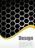 Honeycomb gray textures. — Stock Vector