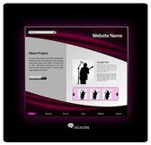 Szablon projektu witryny sieci web — Wektor stockowy