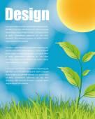 природа экологии плакат — Cтоковый вектор