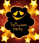 Halloween holiday party poster — Stock Vector