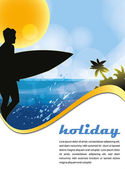 Summer tropic holiday poster — Stock Vector