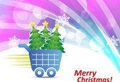 Christmas holiday poster — Stock Vector