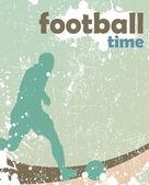 Piłka nożna plakat — Wektor stockowy
