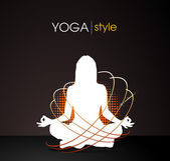 Yoga style — Stock Vector
