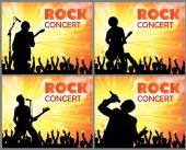 Concert poster with a singer — Stock Vector