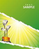 Golf poster — Stock Vector