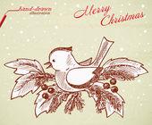 Christmas bird — Stock Vector