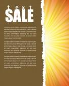 Shopping poster — Stock Vector