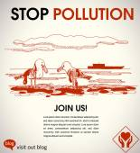 Stop pollution — Stock Vector