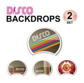 Web glossy design elements - retro disco — Stock Vector
