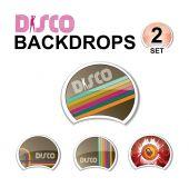 Web glossy design elements - retro disco — Vector de stock