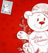 Christmas toy bear — Stock Vector