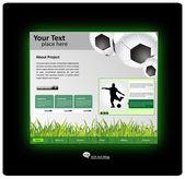 Sports web site design template — Wektor stockowy