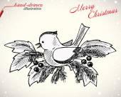 圣诞鸟 — 图库矢量图片