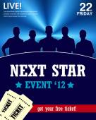 Star talent show poster — Stock Vector