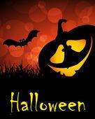 Affiche de fête halloween vacances — Vecteur