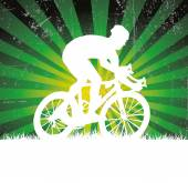 Bicycle racing poster — Stock Vector