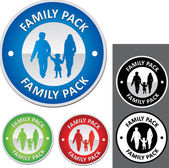Family pack badge — Stock Vector
