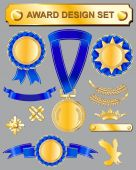 Award set  medals — Stock Vector