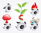 Creative football signs — Stock Vector