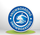 Snowboarding sign — Stock Vector