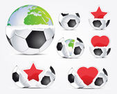 Creative football signs — Stock Vector