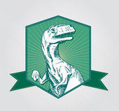тиранозавр знак — Cтоковый вектор
