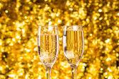 Dwa szampan szkło — Zdjęcie stockowe