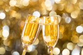 Defocused gold abstract christmas background — Stock Photo