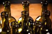 Empty bottles of wine — Stock Photo