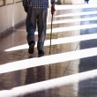 An old man with cane — Stock Photo #56535987