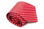 Red, scarlet tie — Stock Photo