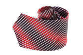 Striped necktie — Stock Photo