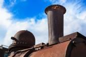 Steam locomotive pipe — Stock Photo