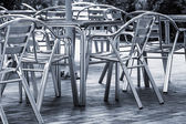 Tables cafe on the street — Foto de Stock