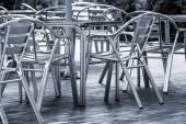Tables cafe on the street — ストック写真