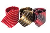 Three striped necktie — Stock Photo