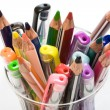 Pens and pencils in glass — Stock Photo #69192719