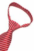 Knot red tie close up — Stock Photo